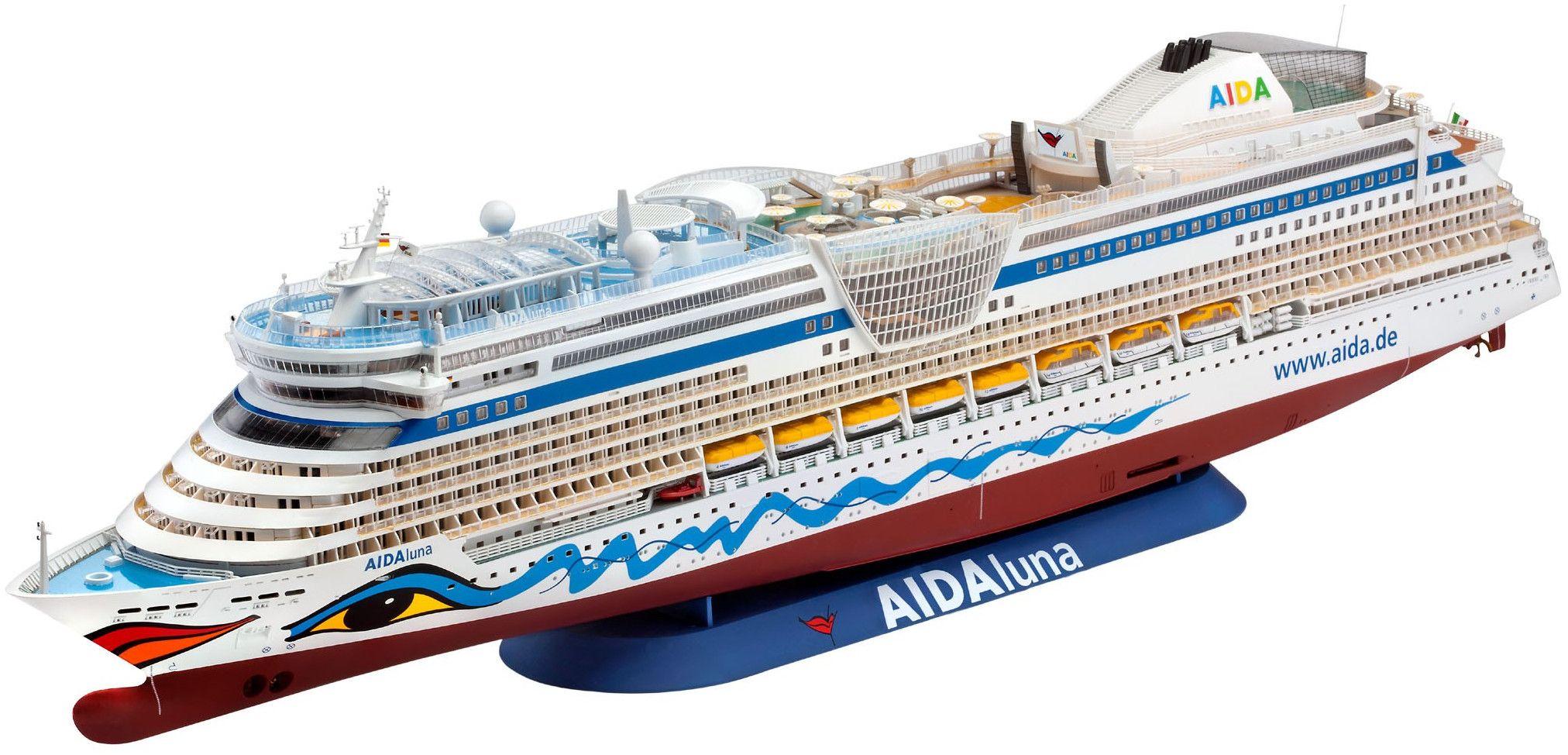 Сглобяем модел на пътнически кораб Revell - Cruiser ship AIDAdiva, AIDAbella, AIDAluna (05200) - 1