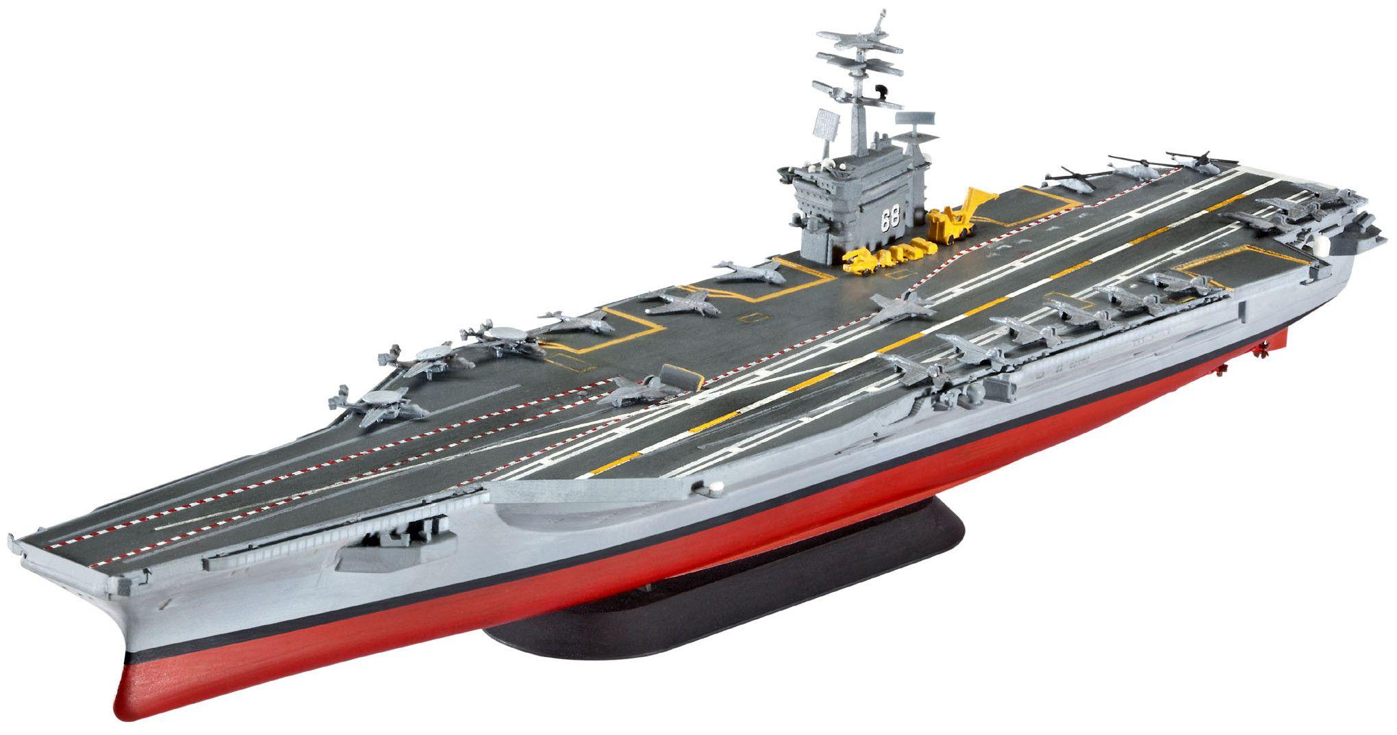 Сглобяем модел на военен кораб Revell - U.S.S. Nimitz (CVN-68) (05814) - 1