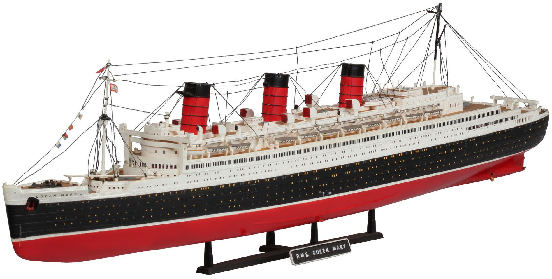 Сглобяем модел на пътнически кораб Revell - Queen Mary (05203) - 1
