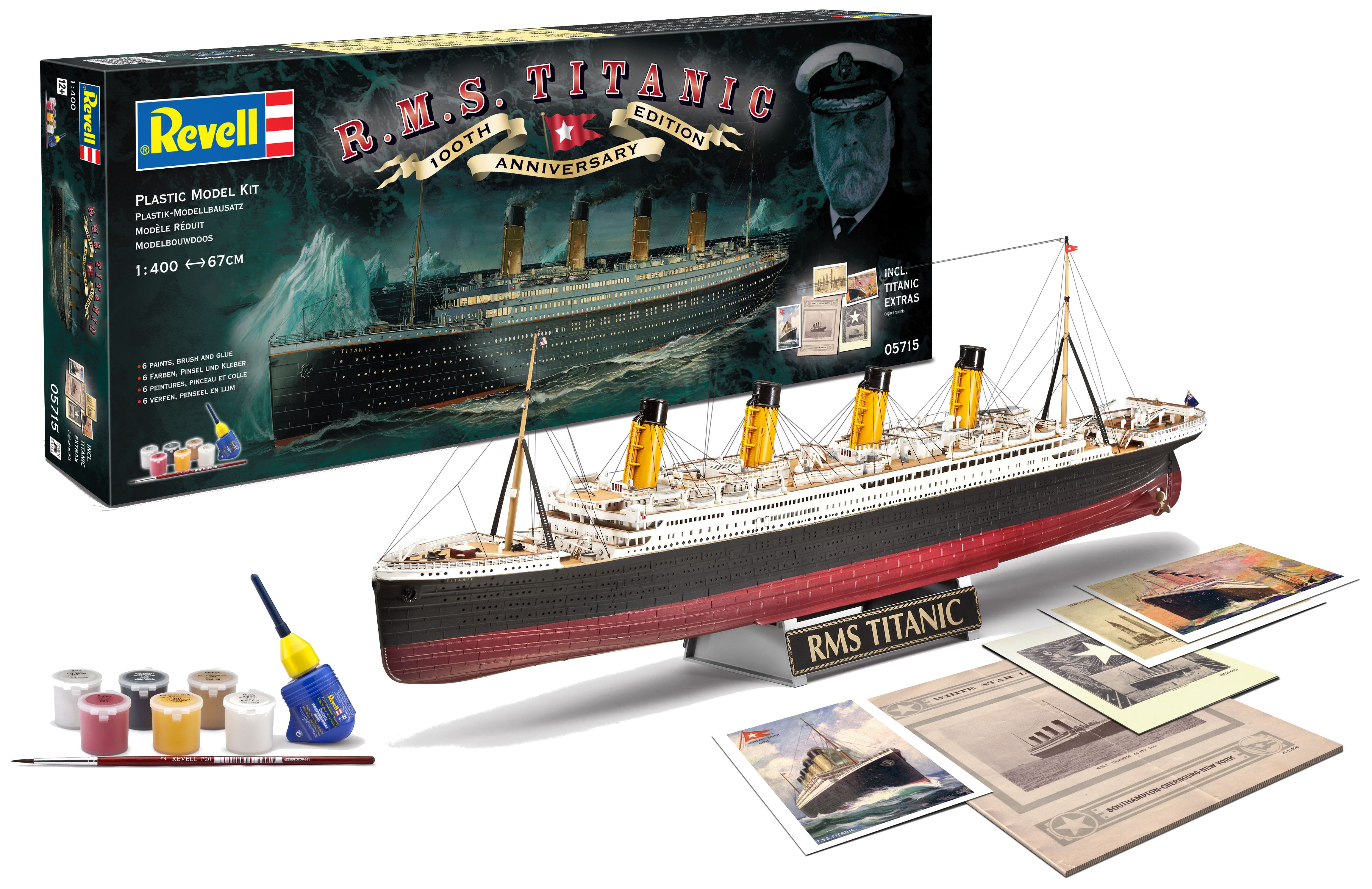 Сглобяем модел на пътнически кораб Revell - R.M.S. Titanic, 100th anniversary edition (05715) - 1