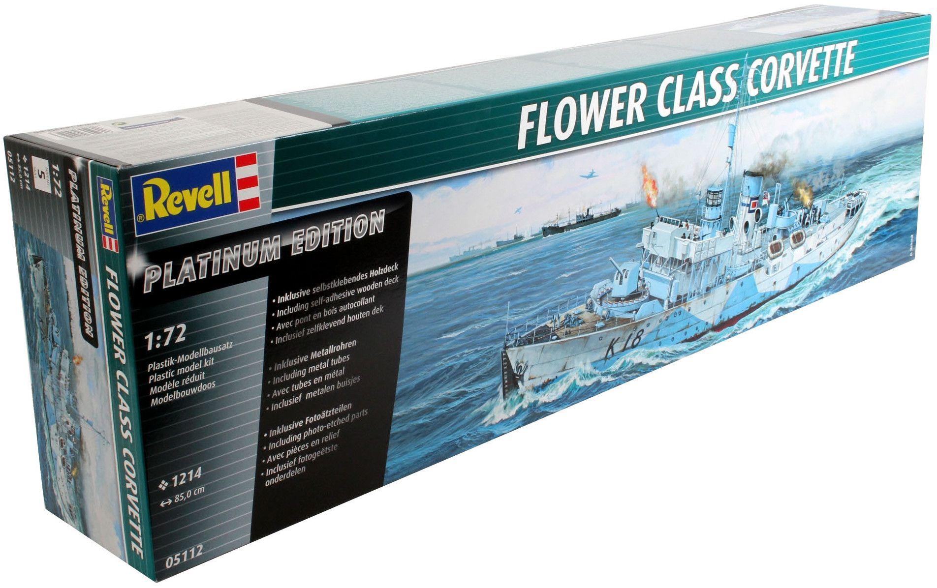 Сглобяем модел на военен кораб Revell - FLOWER CLASS CORVETTE Platinum Edition (05112) - 2