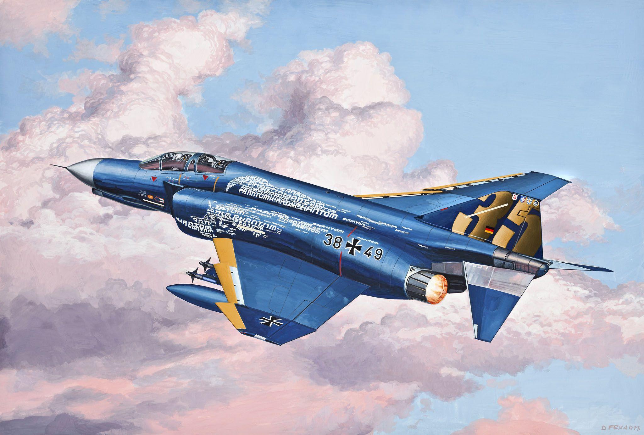 Сглобяем модел на изтребител Revell Easykit - F-4F Phantom (06643) - 3