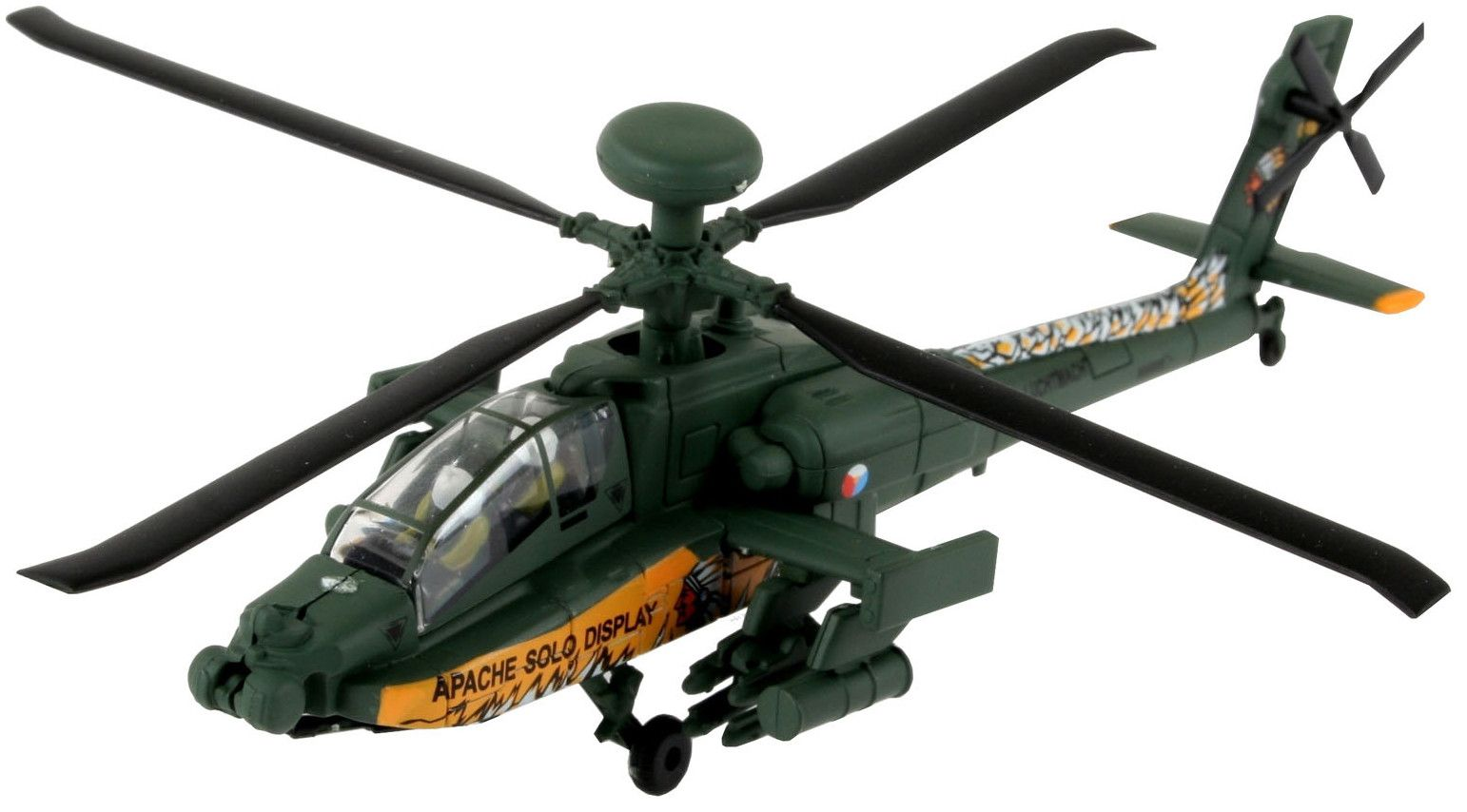 Сглобяем модел на военен хеликоптер Revell Easykit - AH-64 Apache (06646) - 1