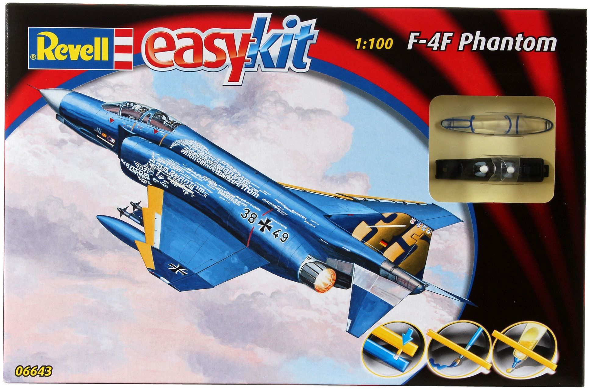 Сглобяем модел на изтребител Revell Easykit - F-4F Phantom (06643) - 4