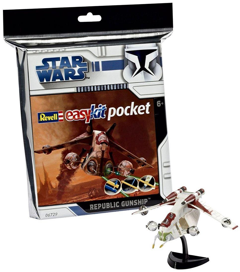 Сглобяем модел на космически кораб Revell Easykit Pocket STAR WARS - Republic Gunship (06729) - 3