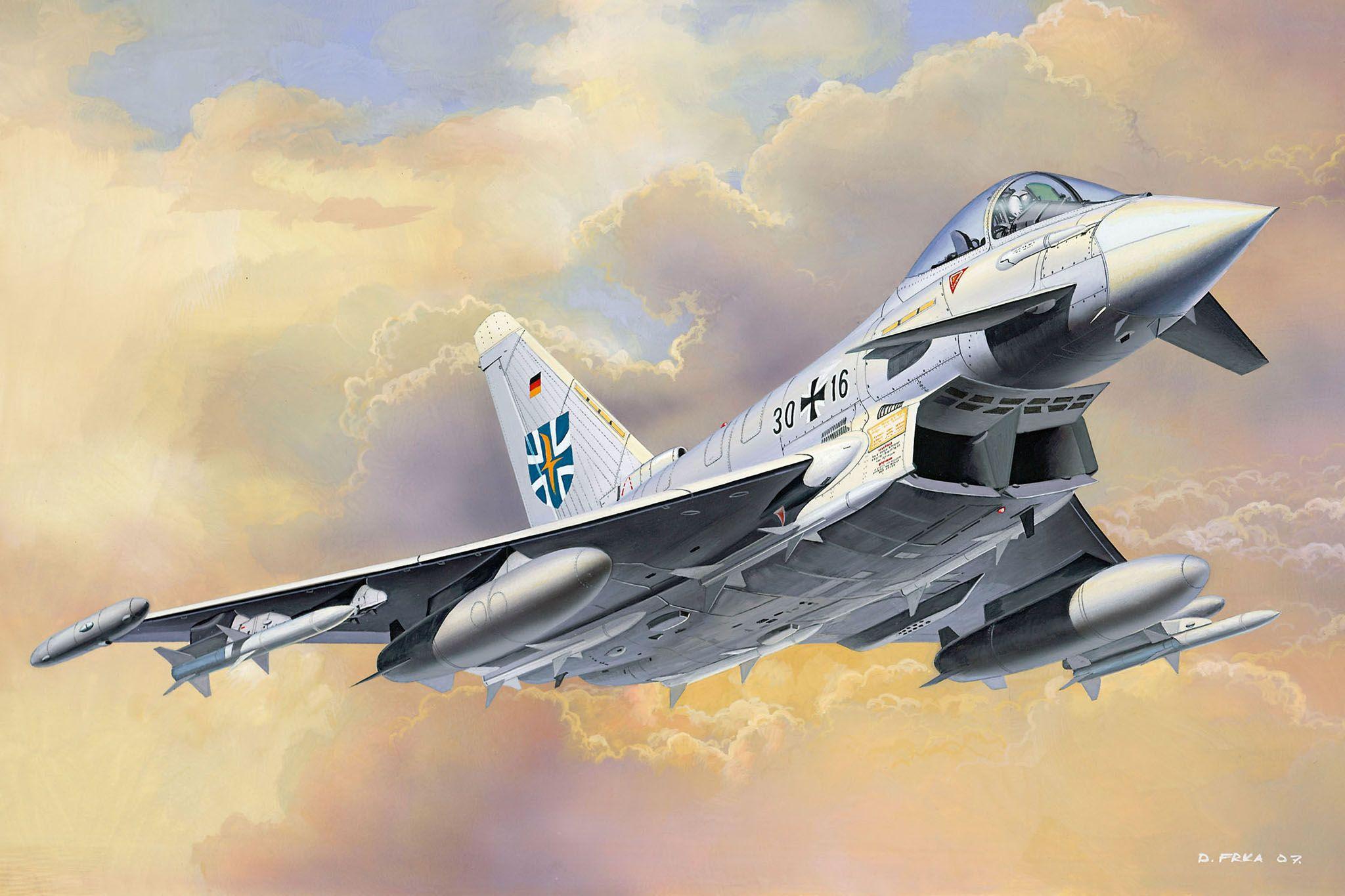 Сглобяем модел на изтребител Revell Easykit - Eurofighter (06625) - 3