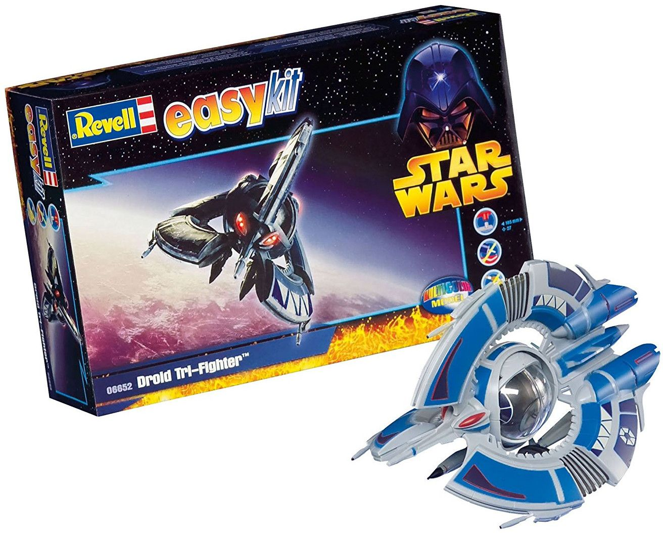 Сглобяем модел на космически кораб Revell Easykit STAR WARS - Droid Tri-Fighter (06652) - 1