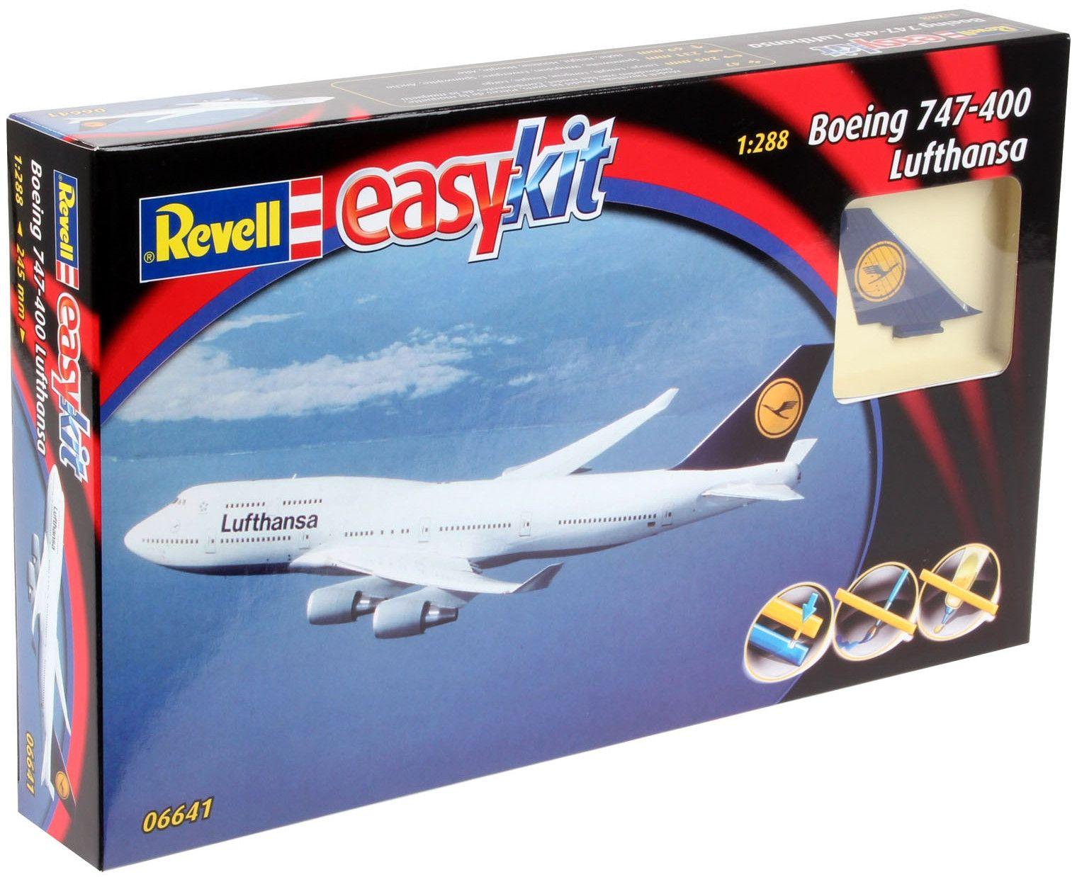 Сглобяем модел на самолет Revell Easykit - Boeing 747-400 Lufthansa (06641) - 4