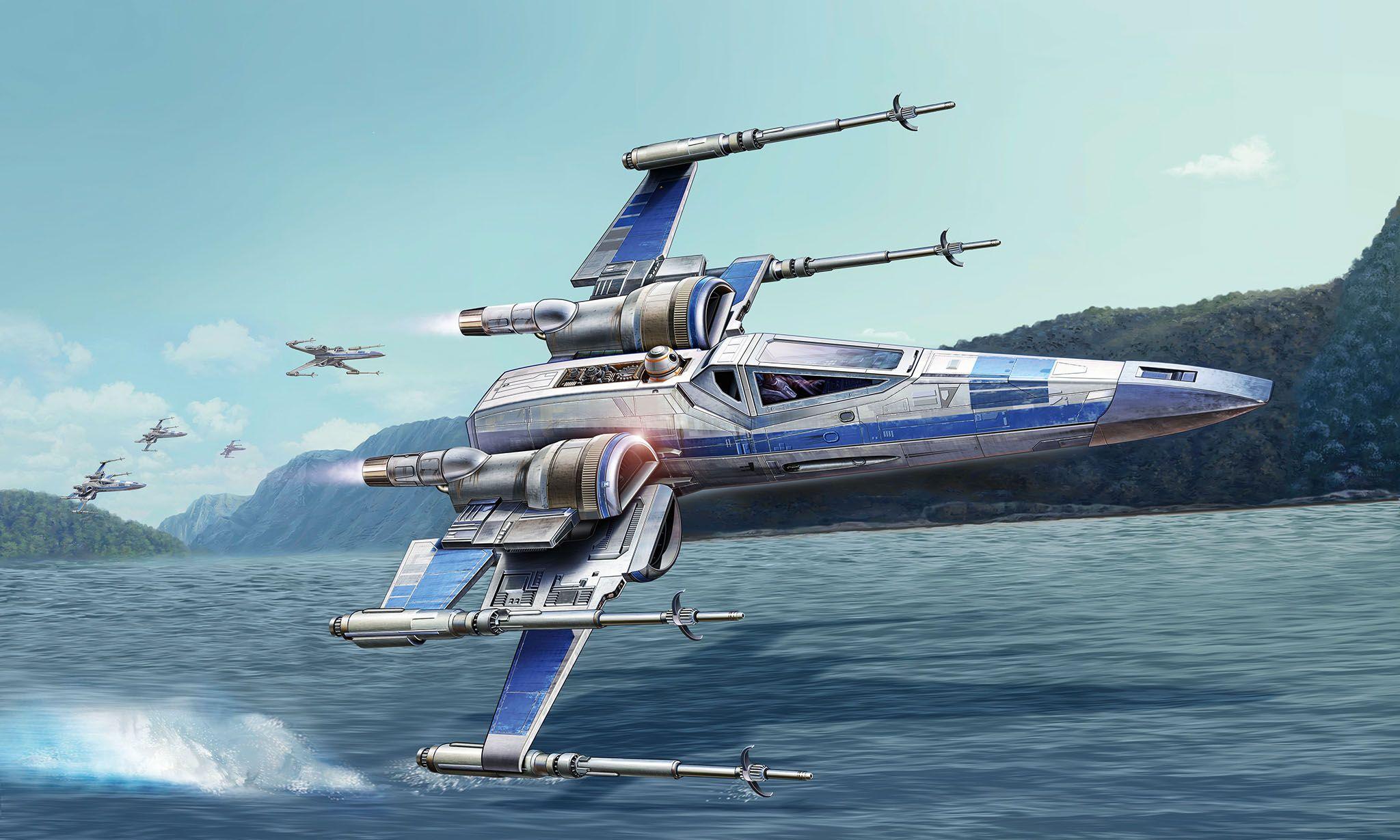 Сглобяем модел на космически кораб Revell Star Wars: Episode VII - Resistance X-Wing Fighter (06696) - 2