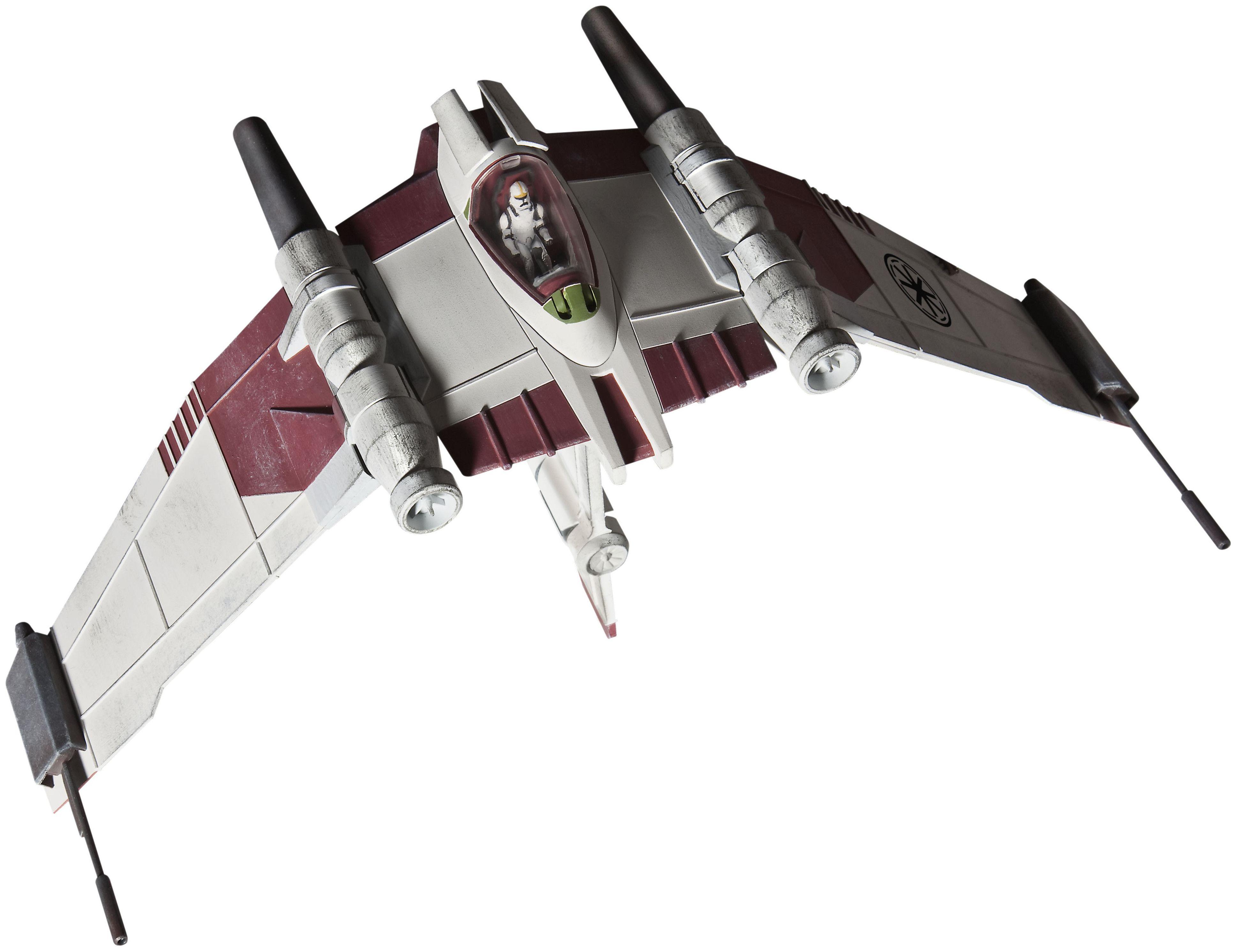 Сглобяем модел на космически кораб Revell Easykit STAR WARS - V-19 Torrent Starfighter (Clone Wars) (06669) - 1