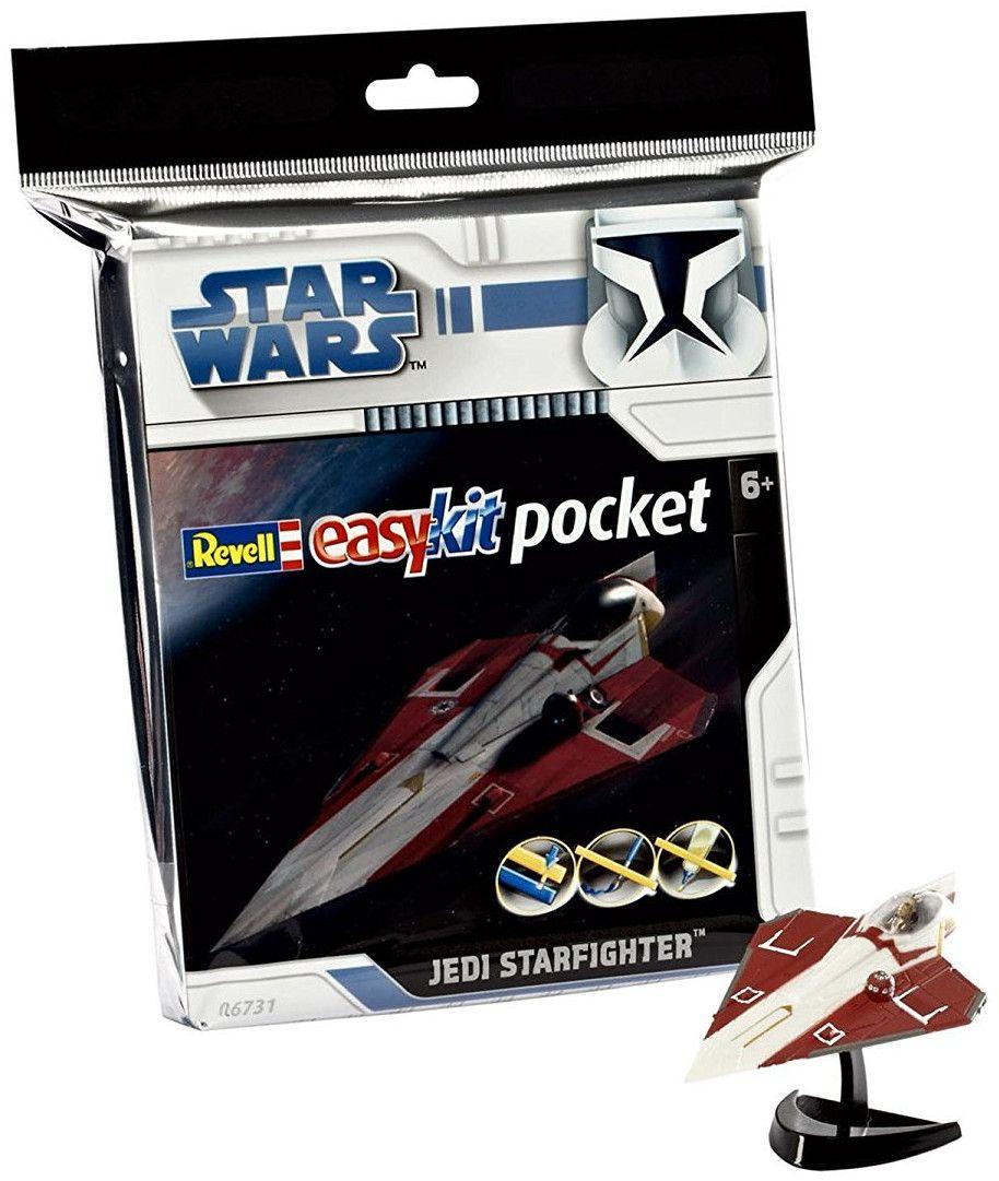 Сглобяем модел на космически кораб Revell Easykit Pocket STAR WARS - Jedi Starfighter (06731) - 3