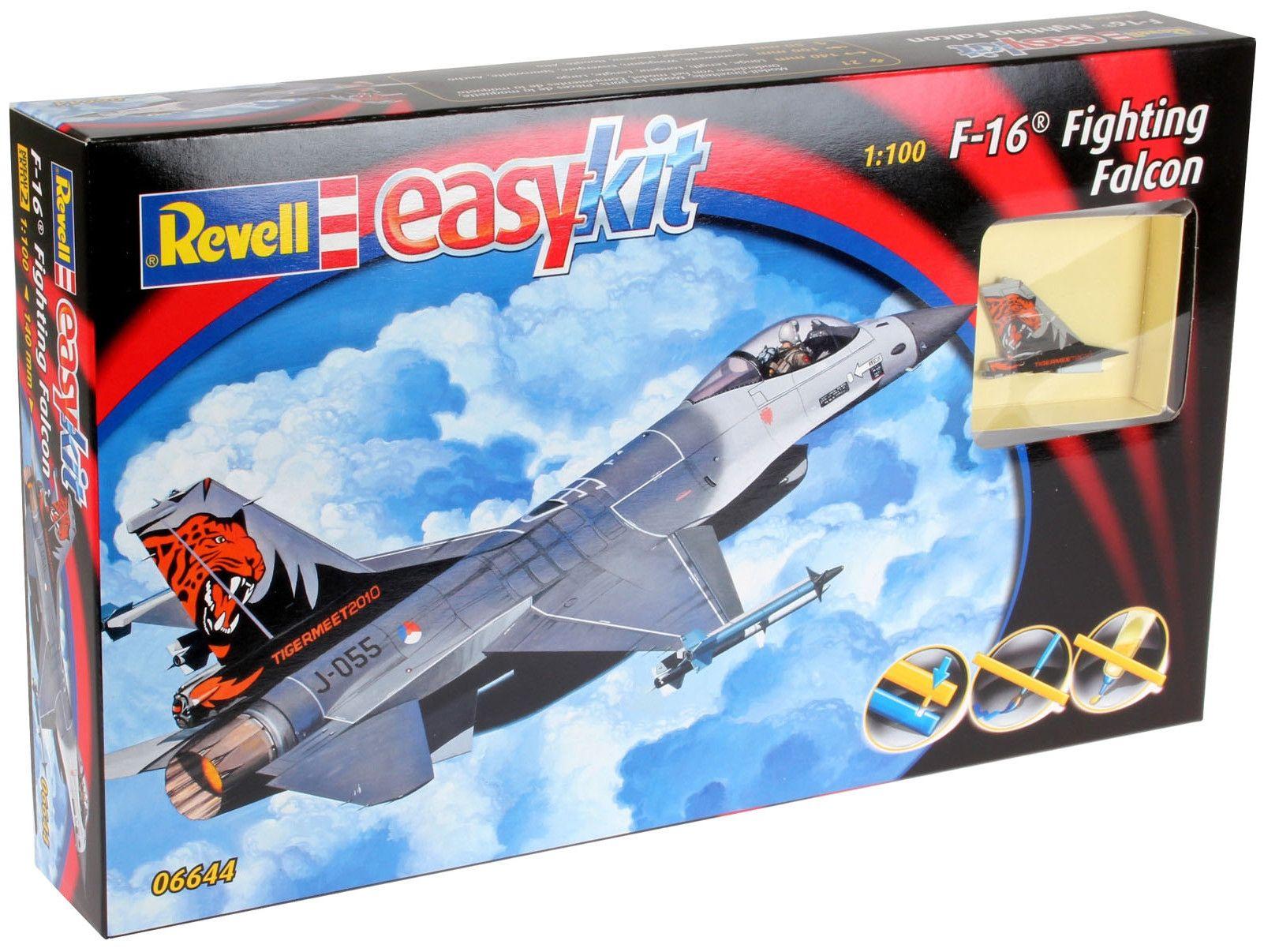 Сглобяем модел на изтребител Revell Easykit - F-16 Fighting Falcon (06644) - 4