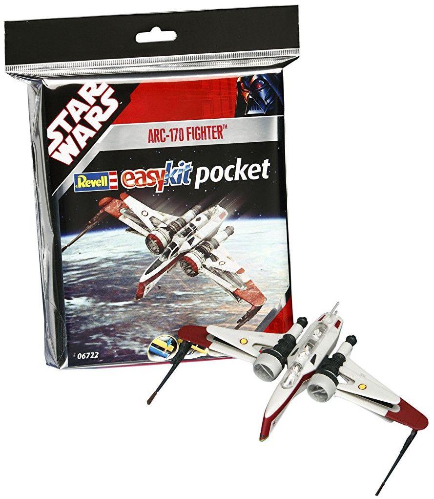 Сглобяем модел на космически кораб Revell Easykit Pocket STAR WARS - ARC-170 Fighter (06722) - 2