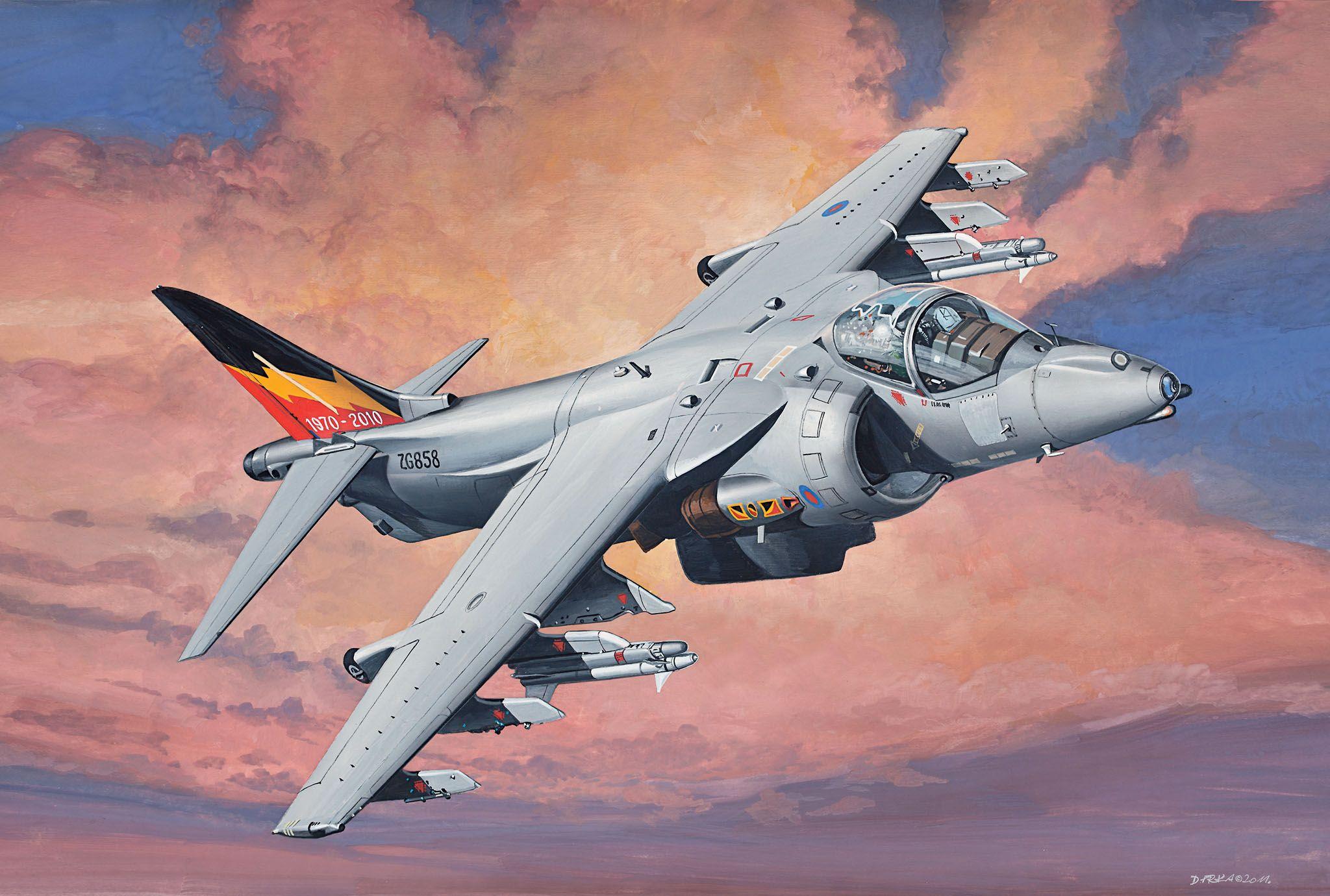 Сглобяем модел на изтребител Revell Easykit - BAE Harrier Gr.9 (06645) - 3