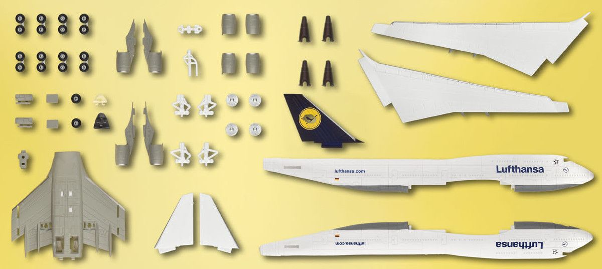 Сглобяем модел на самолет Revell Easykit - Boeing 747-400 Lufthansa (06641) - 5
