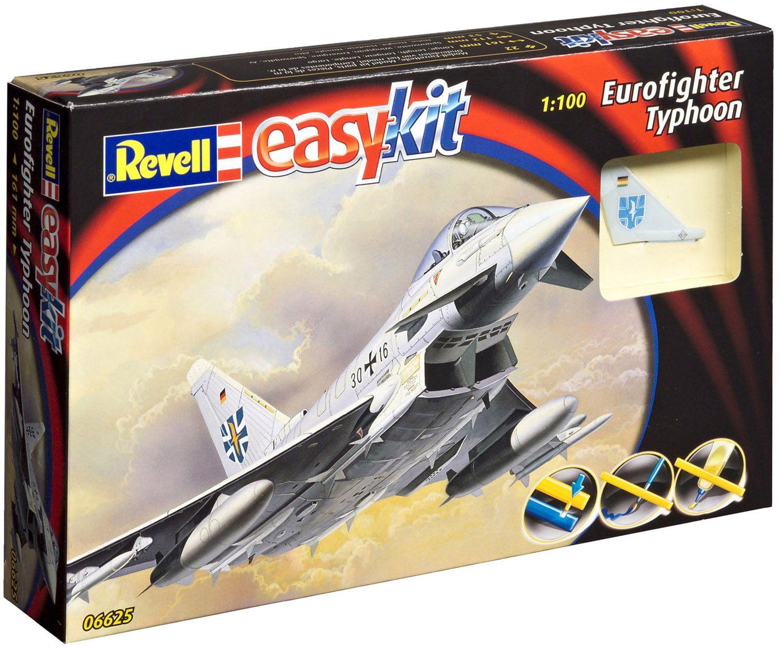 Сглобяем модел на изтребител Revell Easykit - Eurofighter (06625) - 2