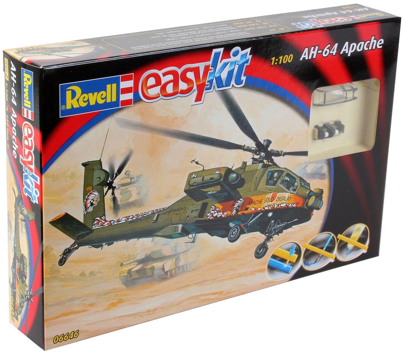 Сглобяем модел на военен хеликоптер Revell Easykit - AH-64 Apache (06646) - 3