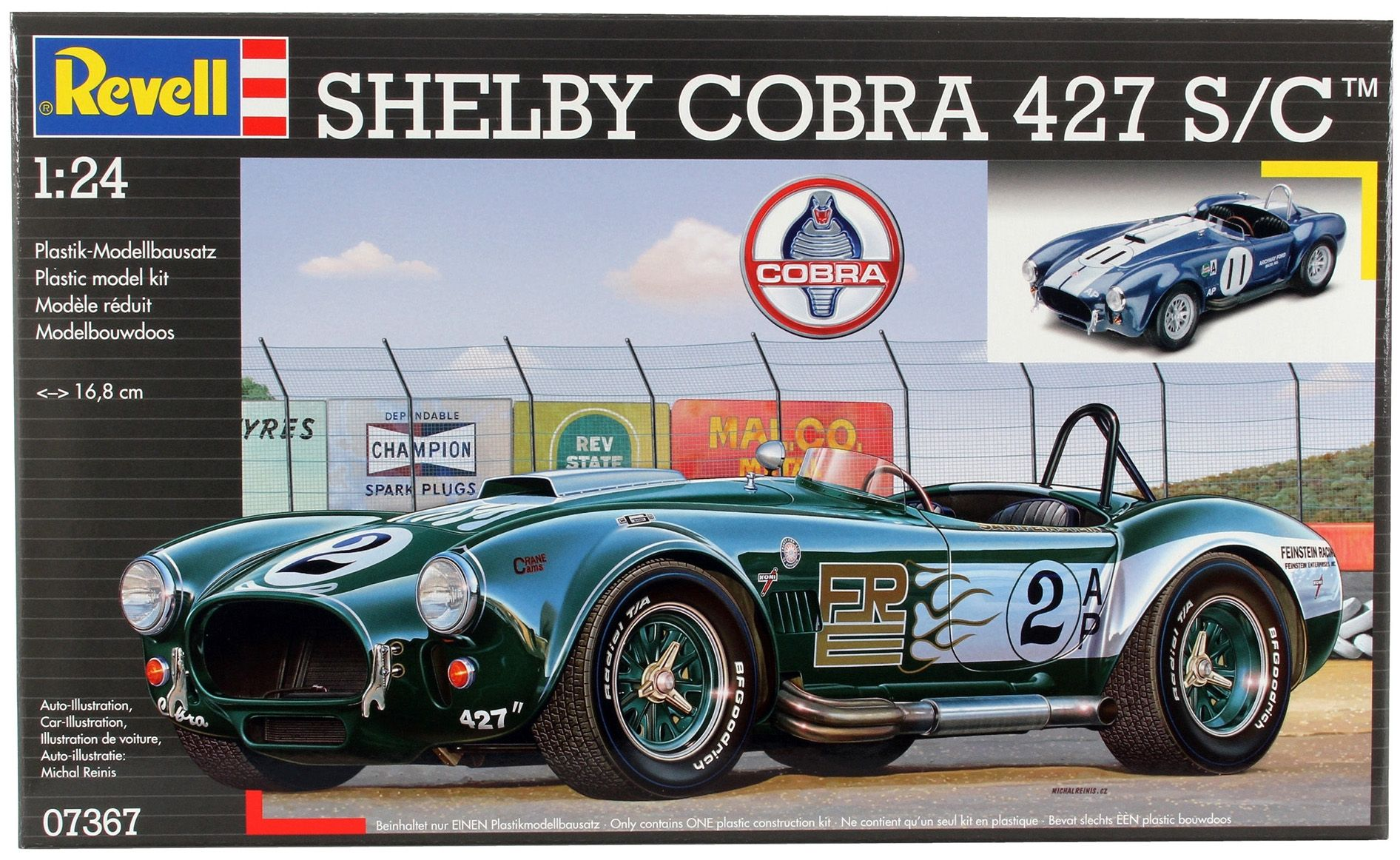 Сглобяем модел на автомобил Revell - Shelby Cobra 427 S/C (07367) - 3