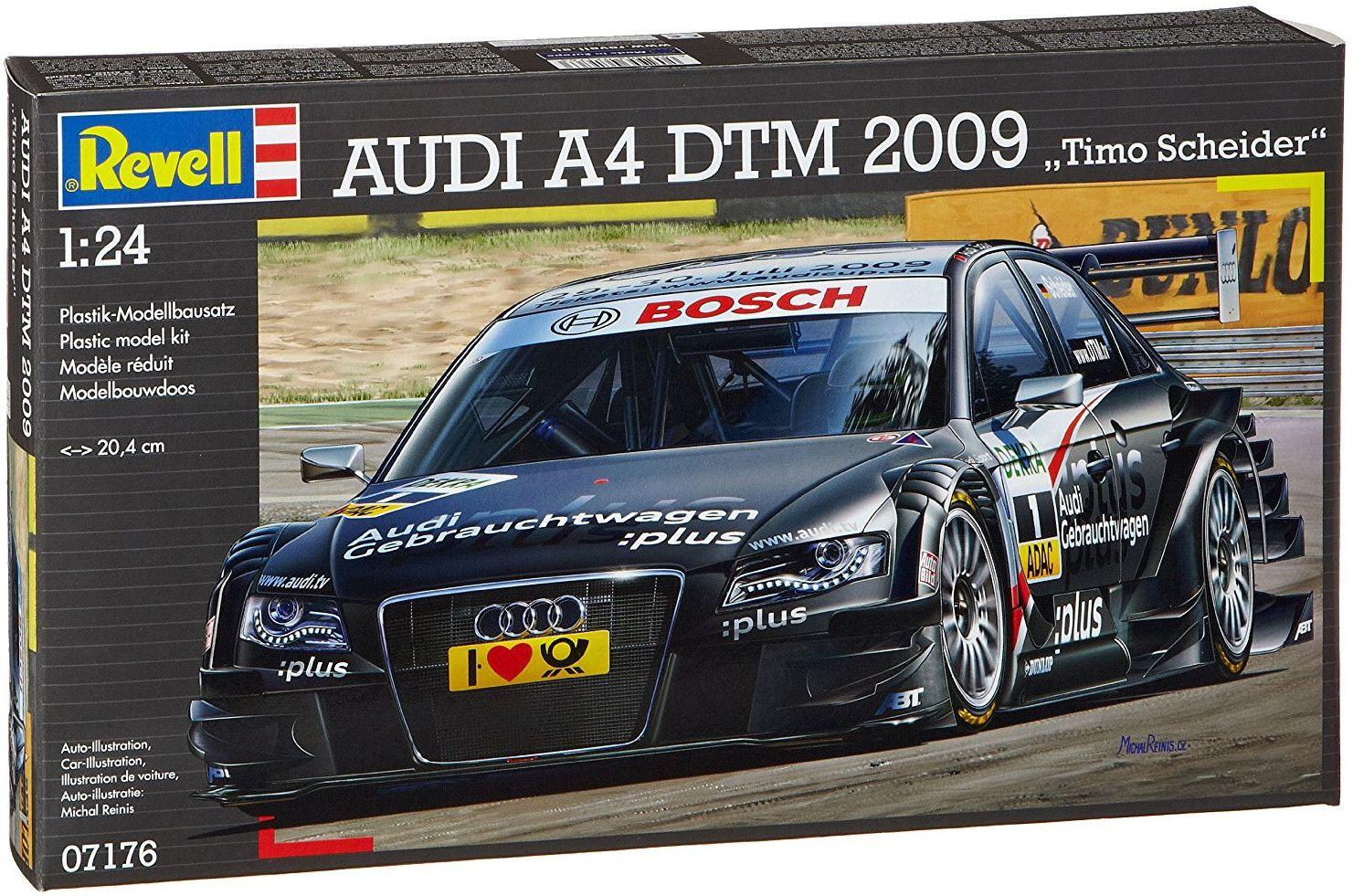 Сглобяем модел на автомобил Revell - Audi A4 2009 Timo Scheider (07176) - 2