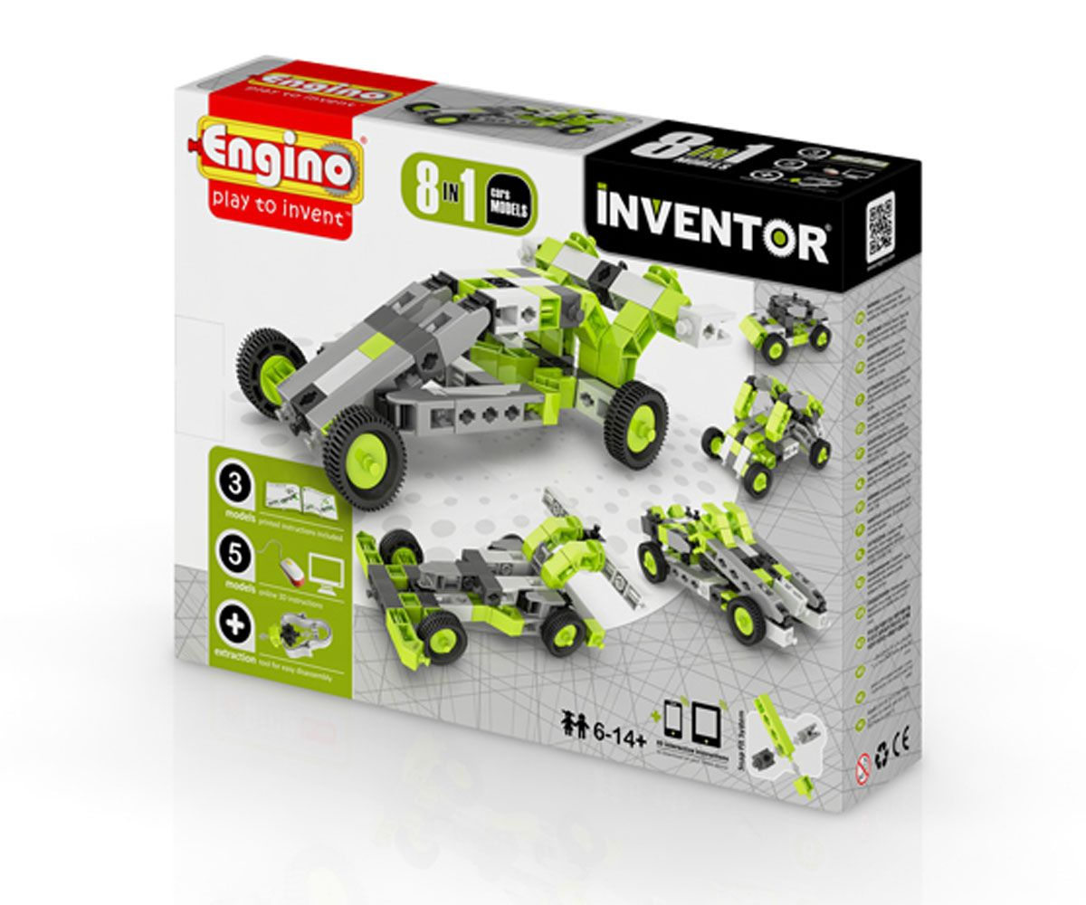 Конструктор Engino Inventor - 8 модела коли - 9