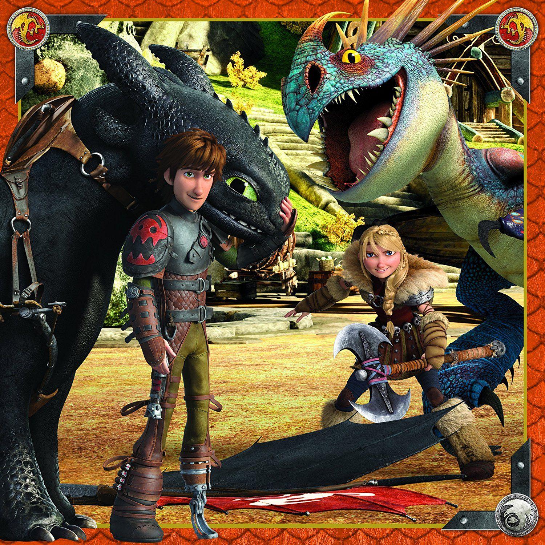 Пъзел Ravensburger 3 в 1 от 49 части - Как да си дресираш дракон - 4