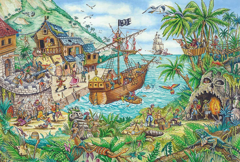 Пъзел Schmidt от 100 части - Пиратски остров, с пиратско знаме - 2