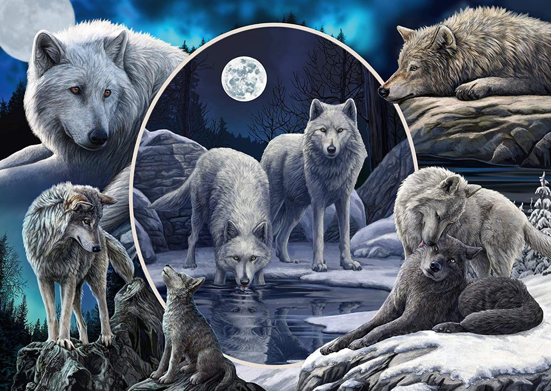 Пъзел Schmidt от 1000 части - Потайните вълци, Лиса Паркър - 2