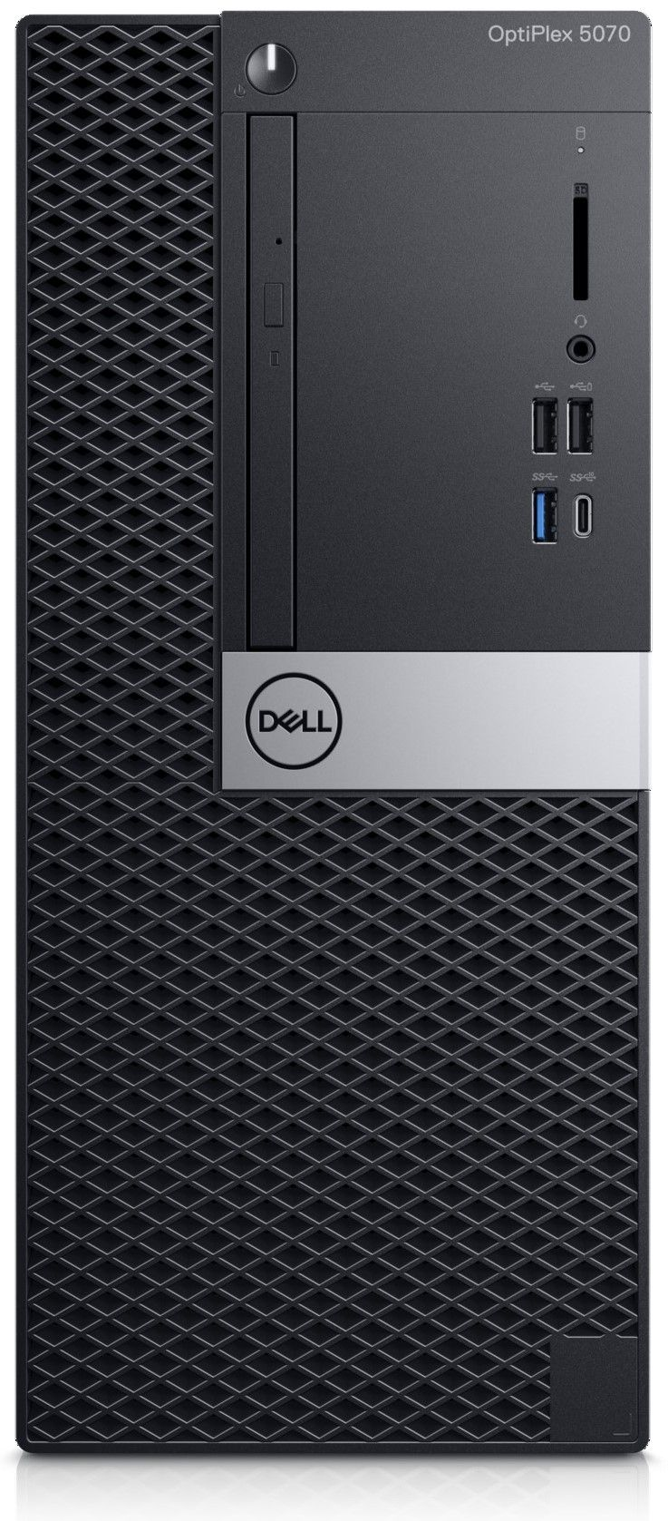 Настолен компютър Dell Optiplex - 5070 MT, черен - 1