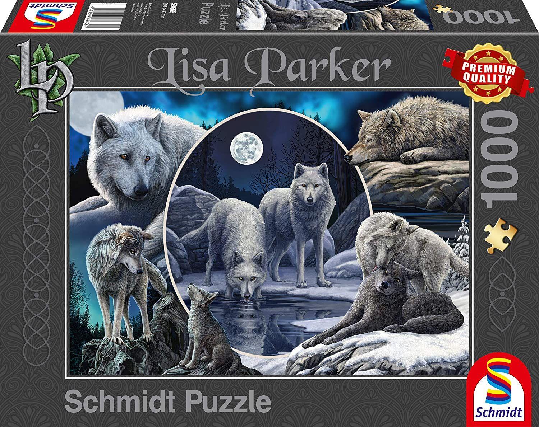 Пъзел Schmidt от 1000 части - Потайните вълци, Лиса Паркър - 1