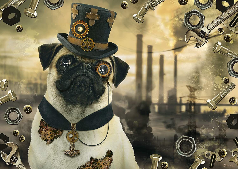 Пъзел Schmidt от 1000 части - Стиймпънк куче, Маркъс Бинц - 2