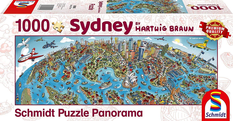 Панорамен пъзел Schmidt от 1000 части - Сидни, Хартуиг Браун - 1