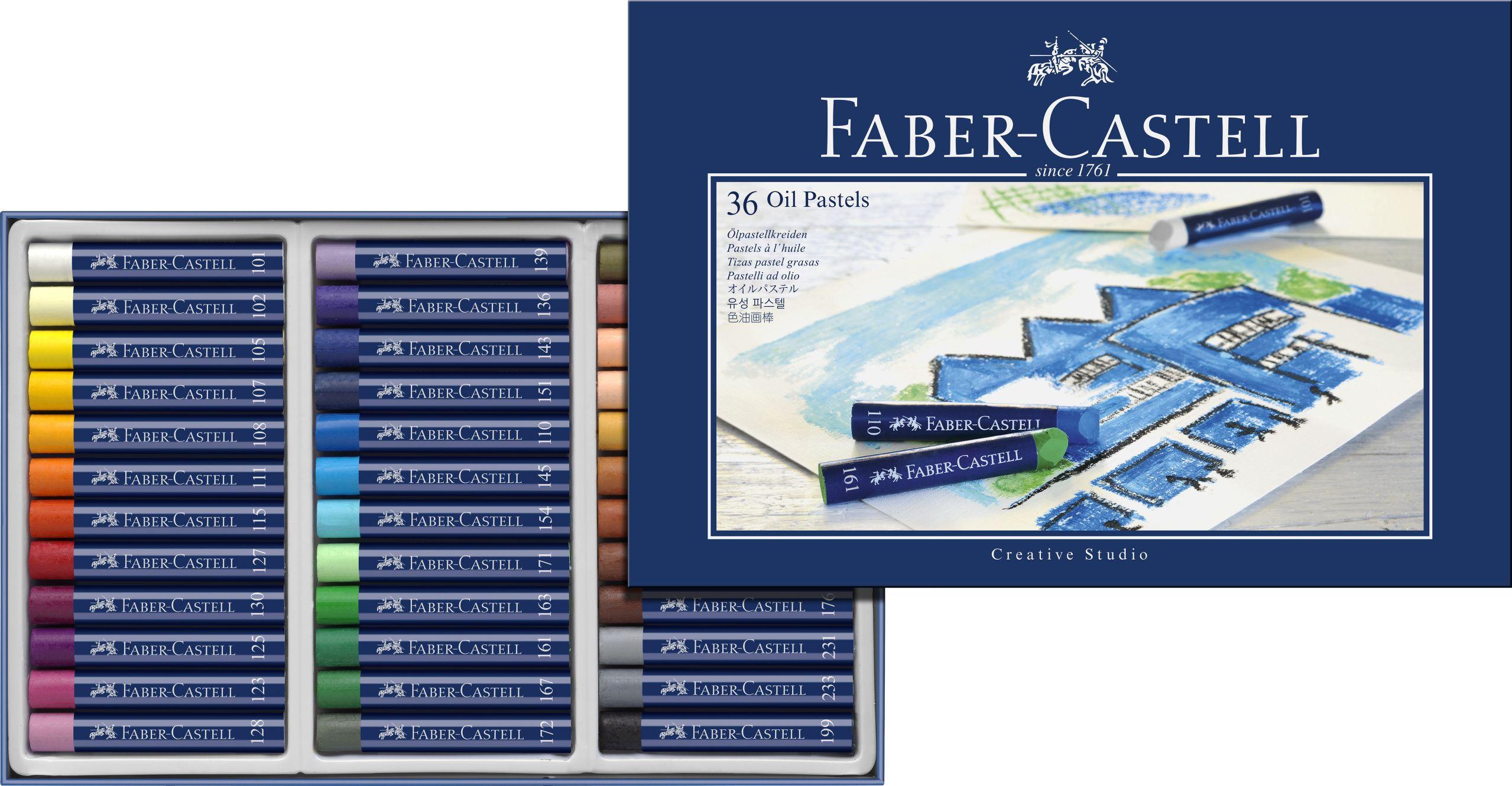 Маслени пастели Faber-Castell - Creative Studio, 36 броя - 2