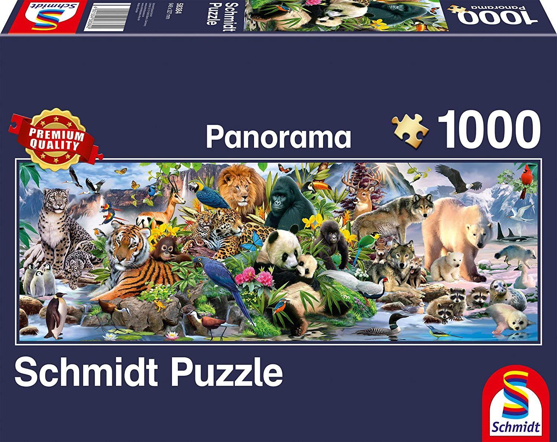 Панорамен пъзел Schmidt от 1000 части - Животинско царство - 1