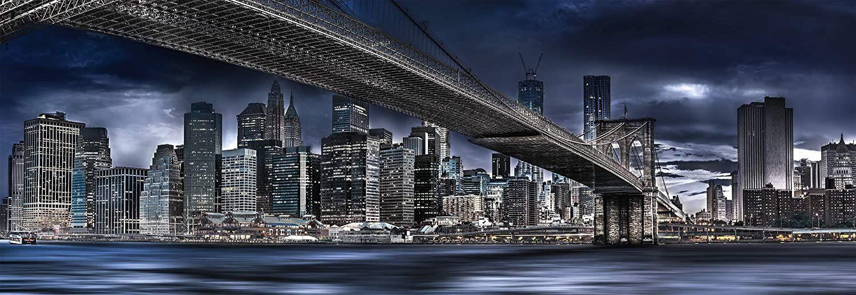 Панорамен пъзел Schmidt от 1000 части - Нощен Ню Йорк, Манфред Вос - 2
