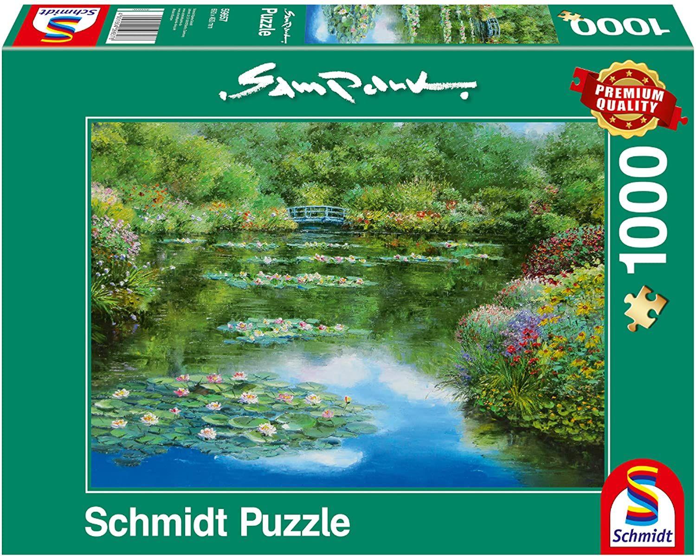 Пъзел Schmidt от 1000 части - Езерото с водните лилии, Сам Парк - 1