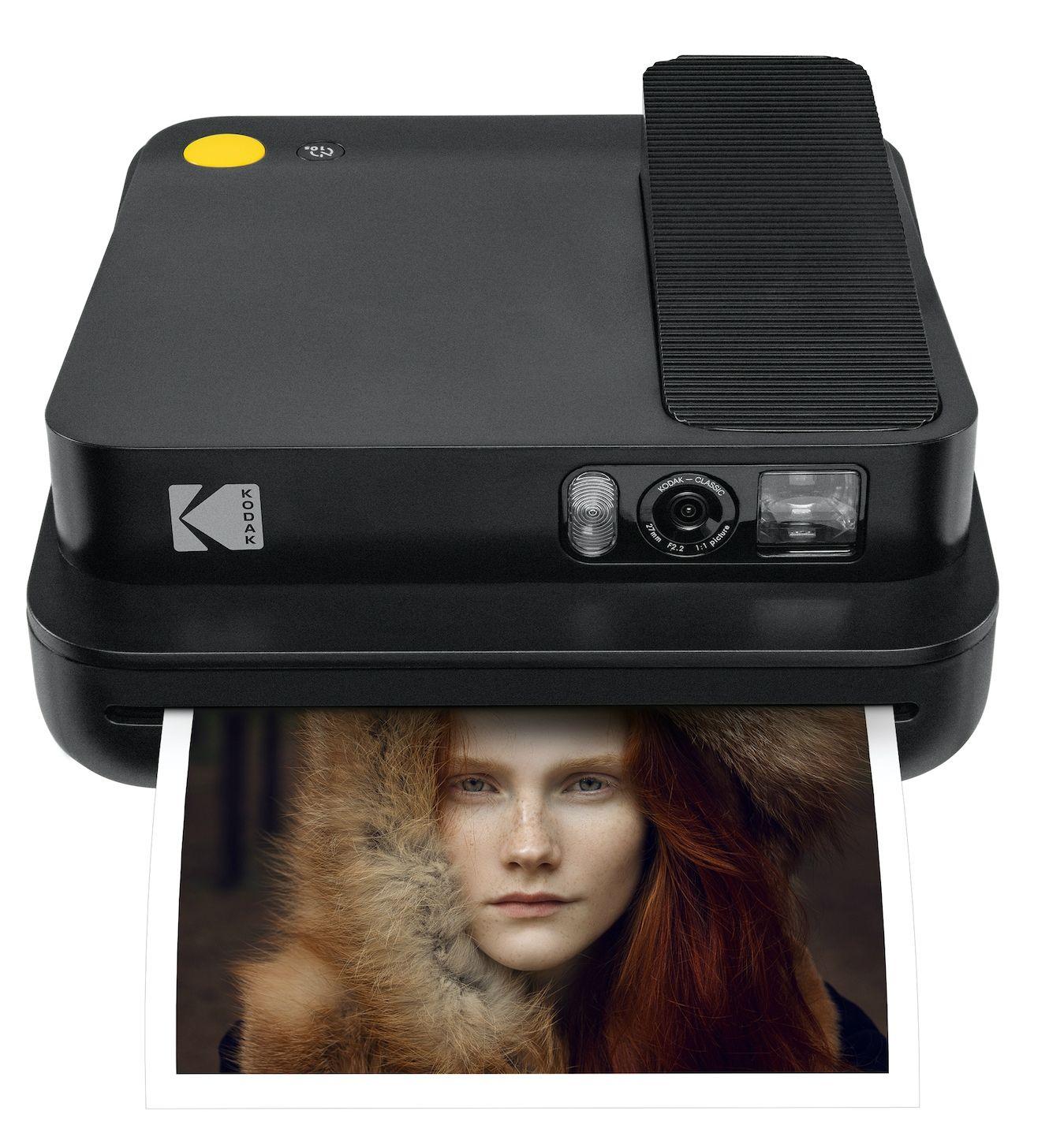 Моментален фотоапарат Kodak - Smile Classic, черен - 1