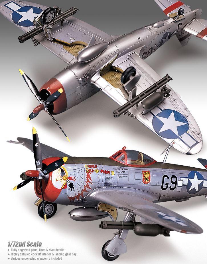 Самолет Academy P-47D Thunderbolt Bubbletop (12491) - 2