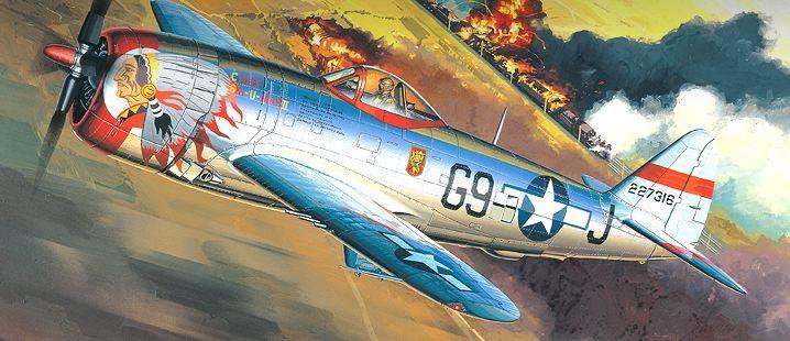 Самолет Academy P-47D Thunderbolt Bubbletop (12491) - 1