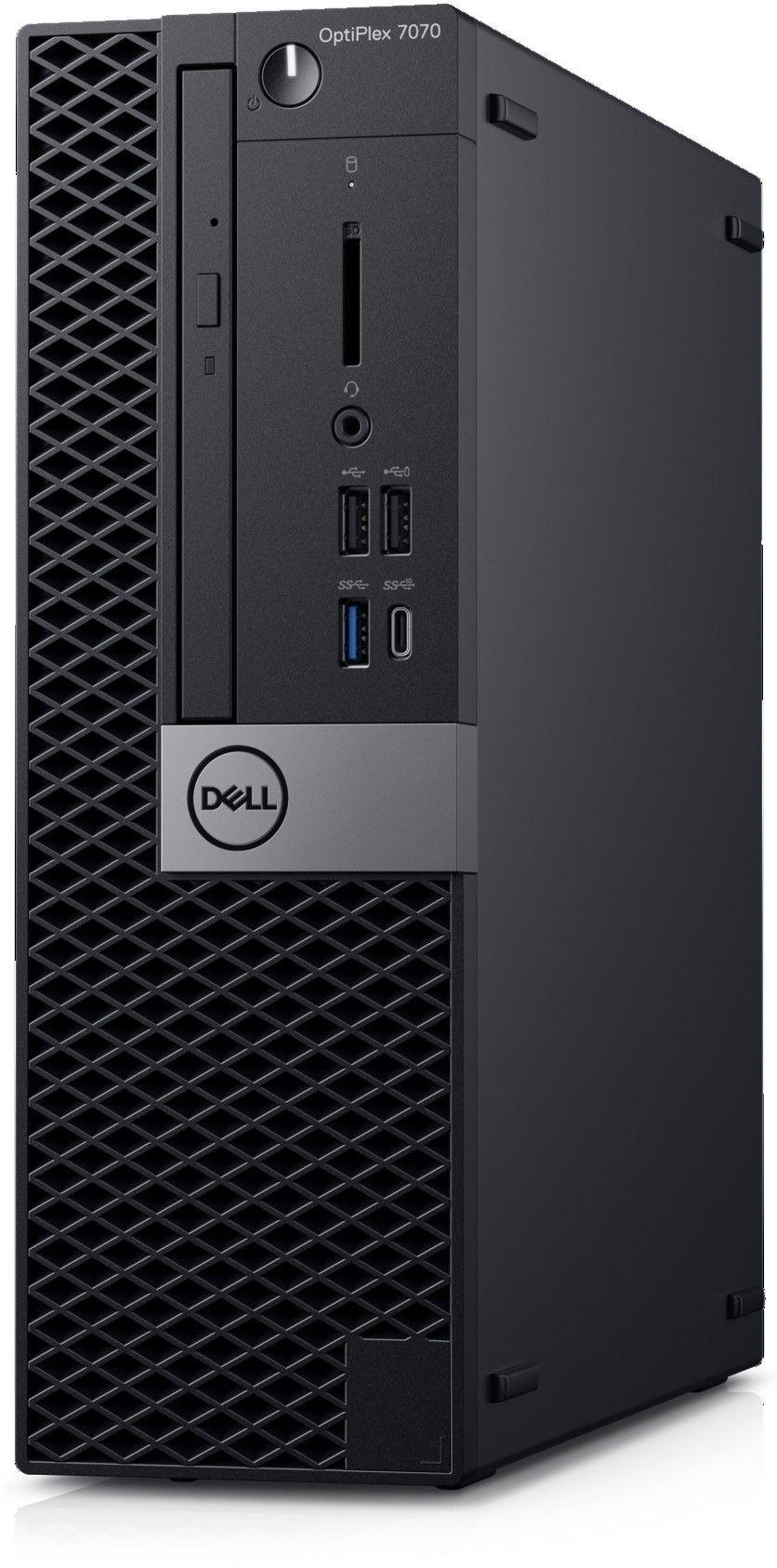Настолен компютър Dell OptiPlex - 7070 SFF, черен - 3