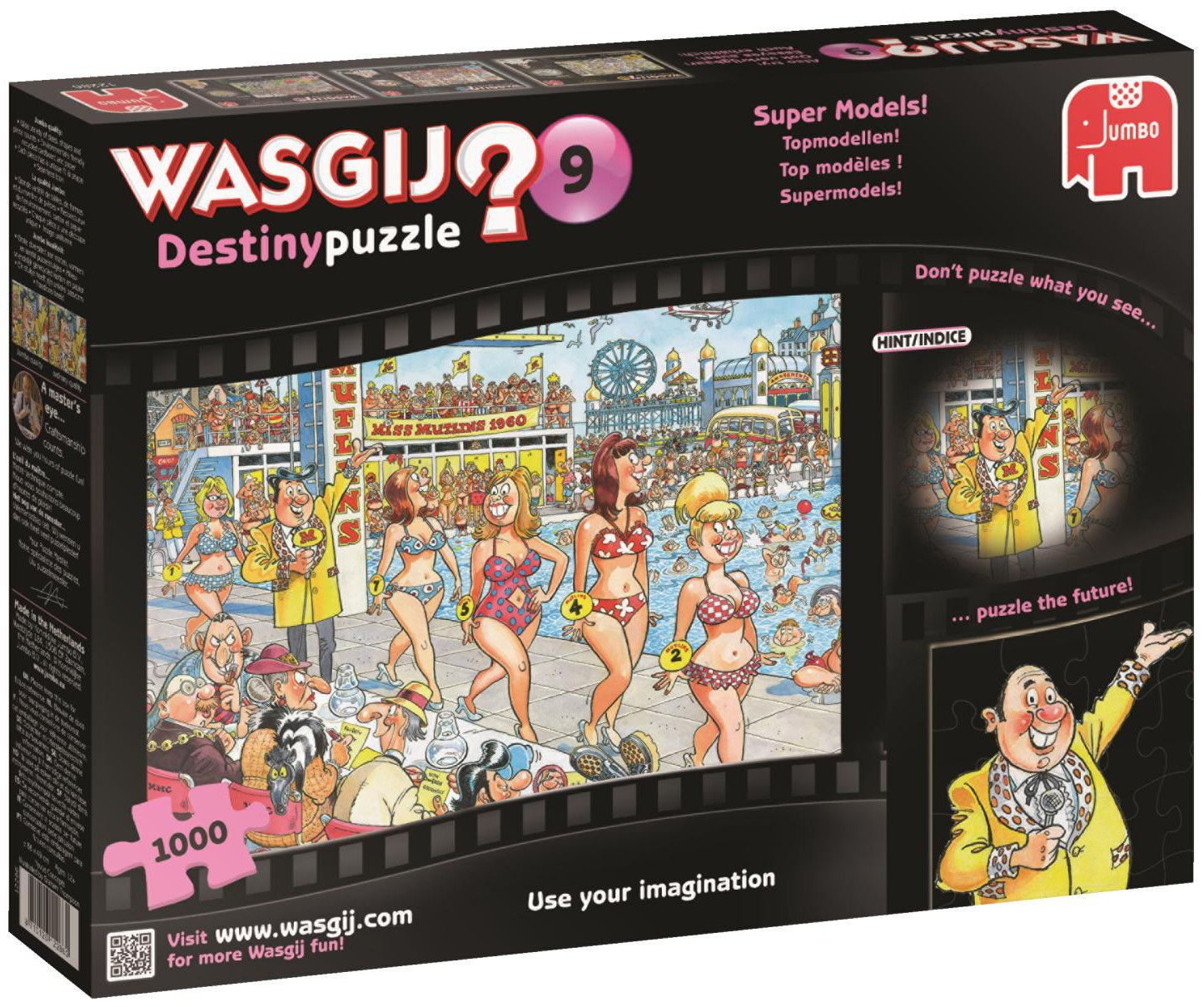 Пъзел Jumbo Wasgij от 1000 части - Супер модели - 1