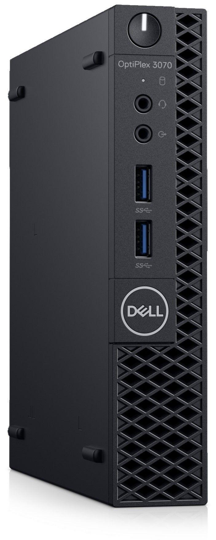 Настолен компютър Dell OptiPlex - 3070 MFF, черен - 2