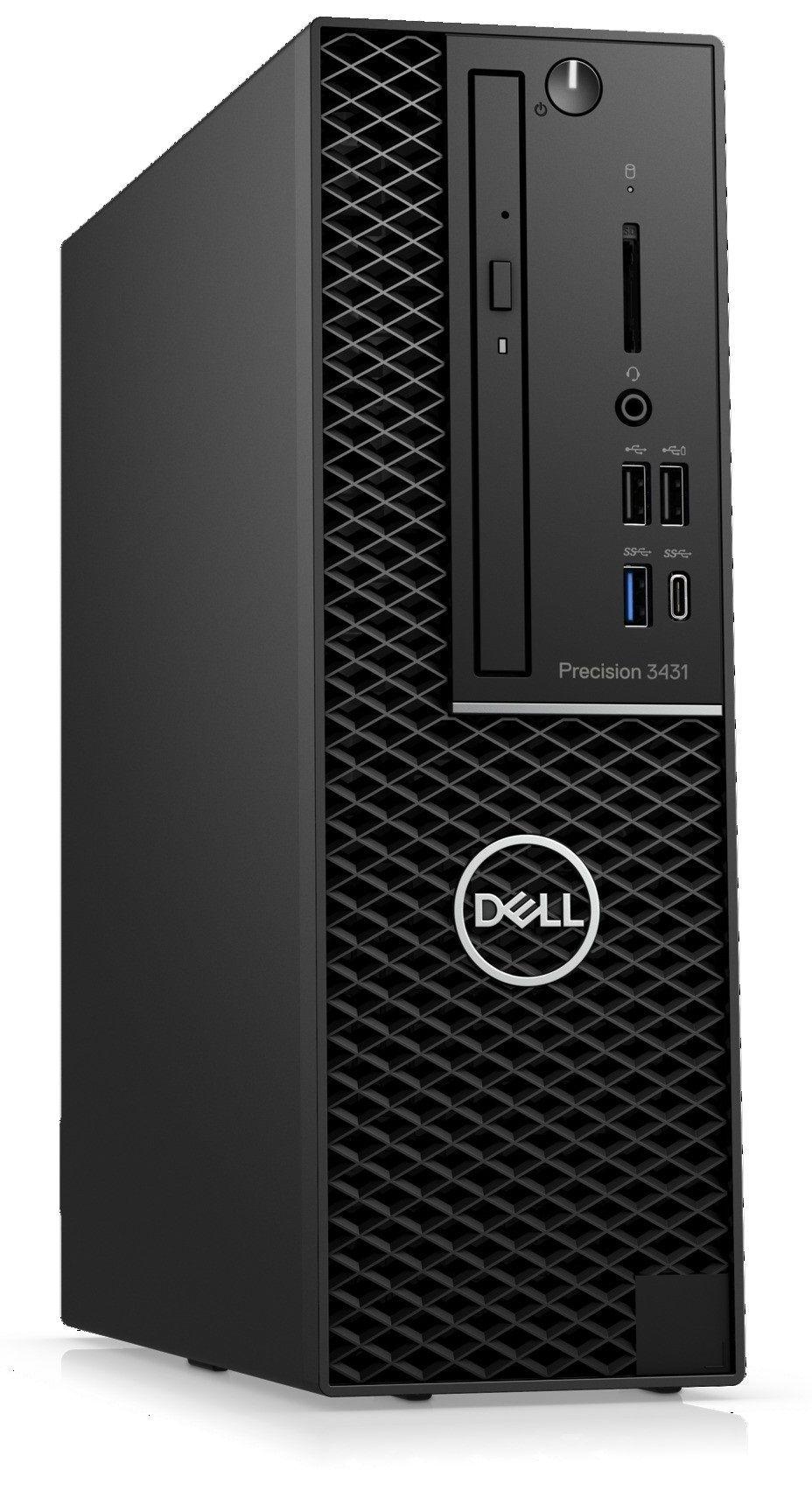 Работна станция Dell Precision - 3431 SFF, черен - 3