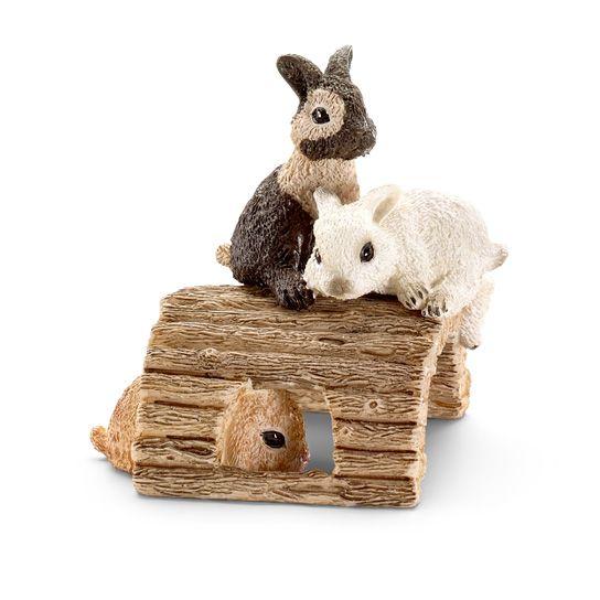 Фигурки Schleich от серията Животът във фермата: Зайчета - играещи - 1