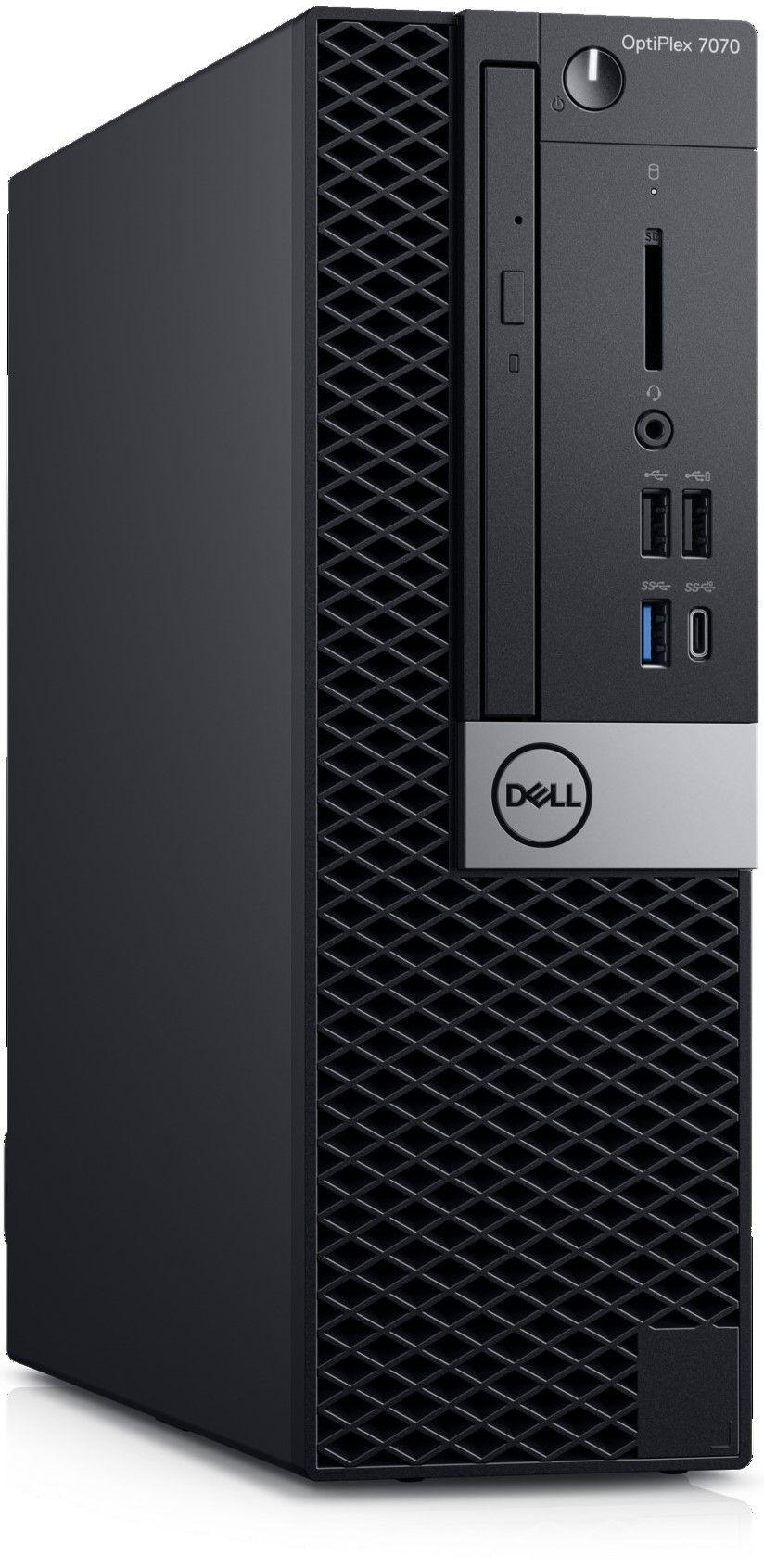 Настолен компютър Dell OptiPlex - 7070 SFF, черен - 2