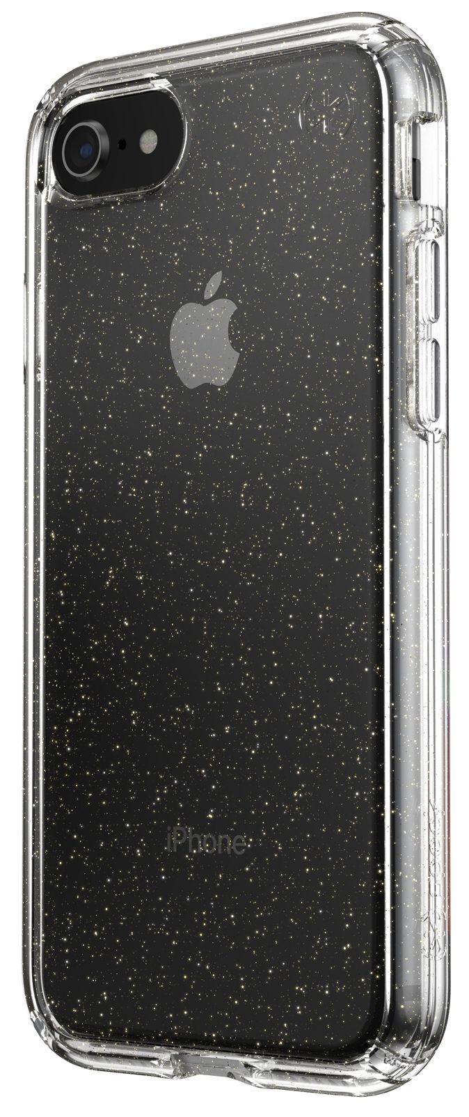 Калъф speck -  iPhone SE, 8,7, Gold Gliter, прозрачен - 6