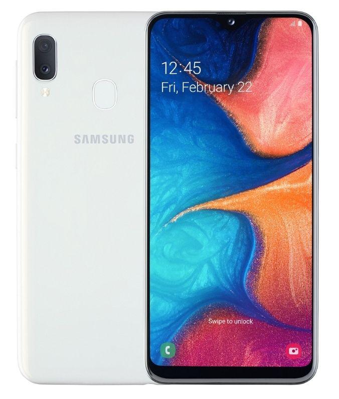 "Смартфон Samsung Galaxy A20e - 5.8"", 32GB, бял - 1"