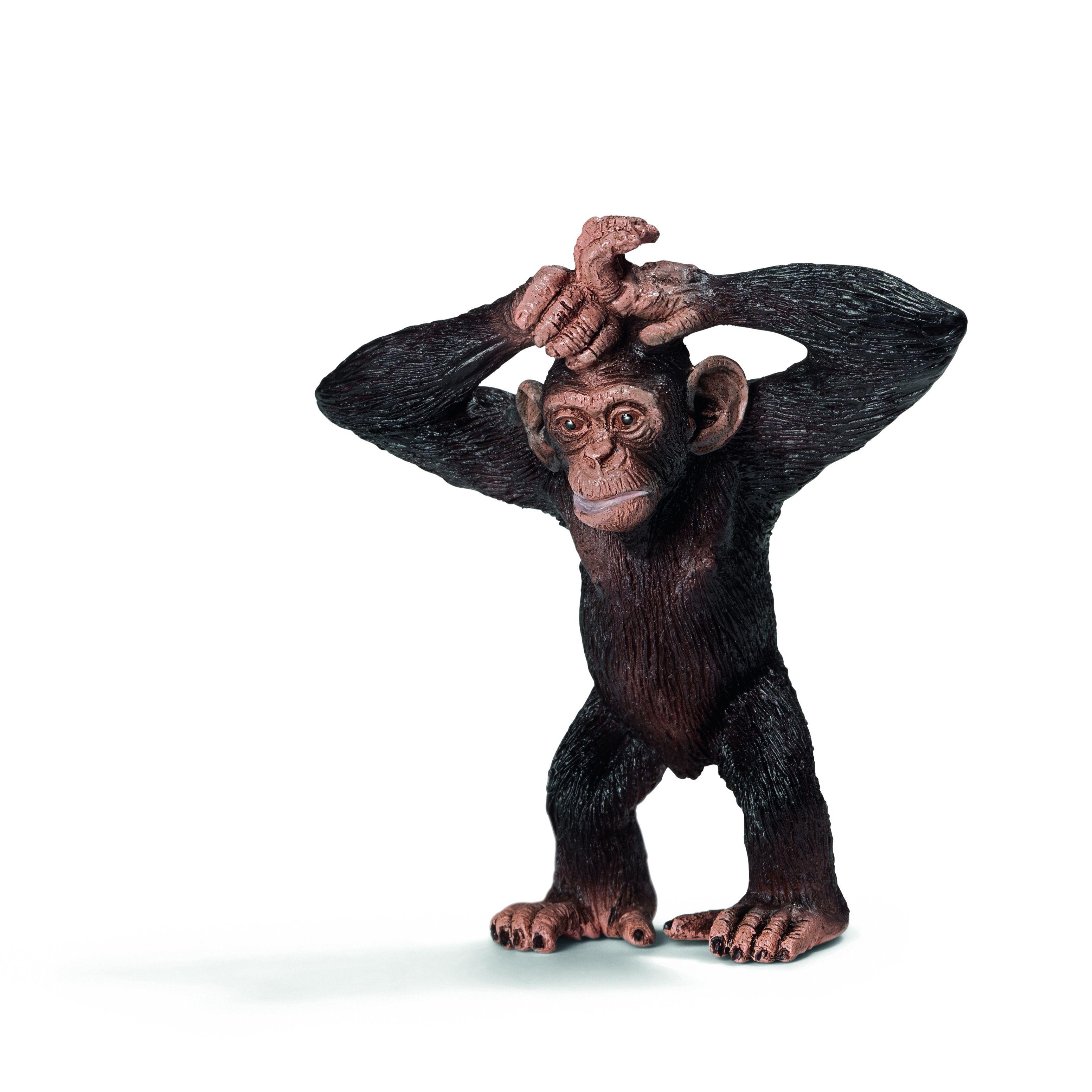 Фигурка Schleich от серията Дивия живот - Африка: Шимпанзе, малко - 1