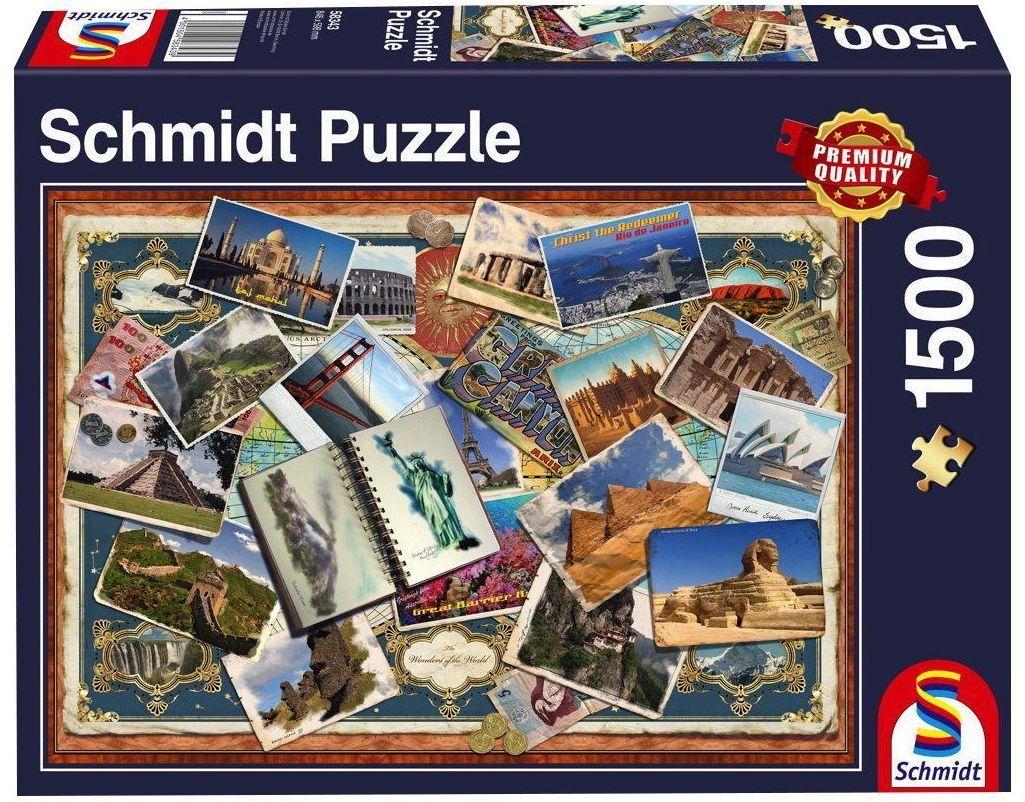 Пъзел Schmidt от 1500 части - Поздрави от различни точки на света - 1
