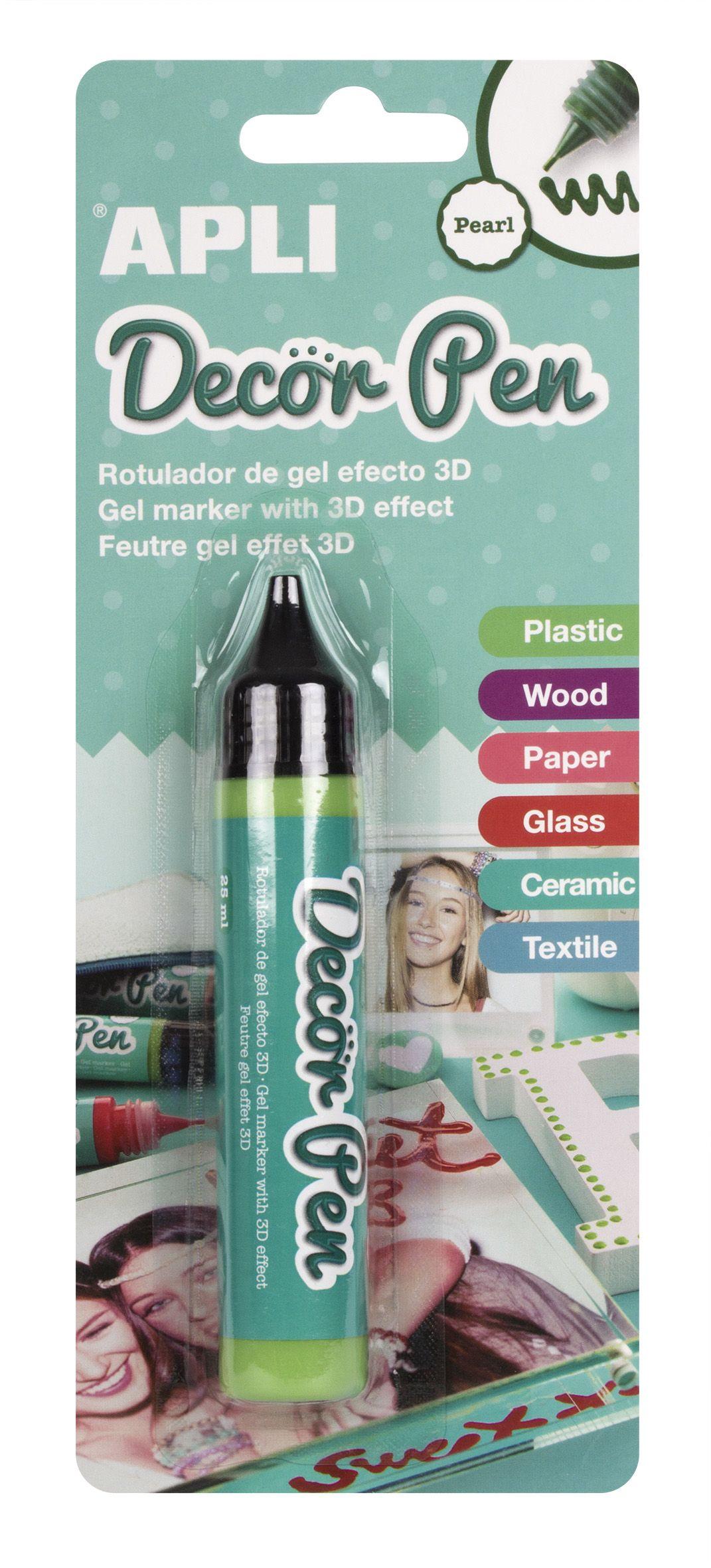Гел маркер APLI - Перлено зелено, 25 ml - 1
