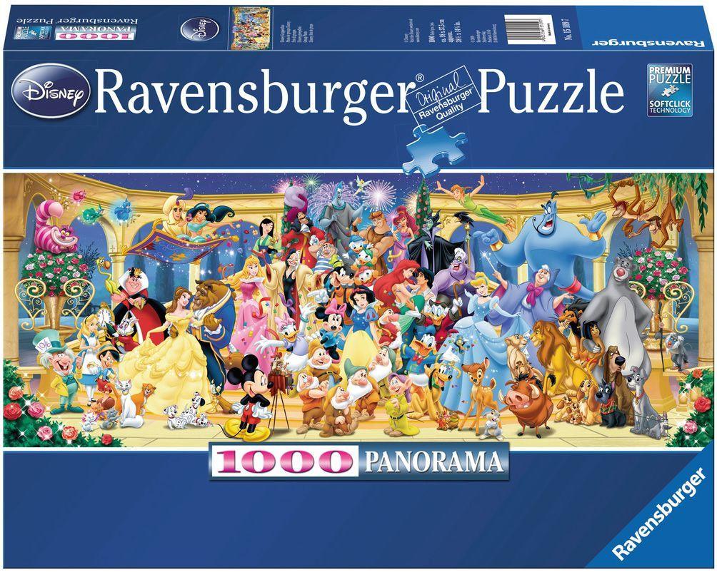 Панорамен пъзел Ravensburger от 1000 части - Героите на Дисни - 1